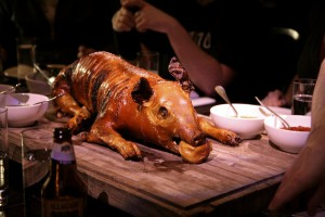 Photo of a suckling pig at the Breslin
